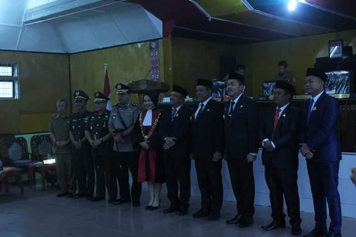 Acara Pelantikan Ketua DPRD Dairi, Eddy Ajak Masyarakat Bergandengan Tangan Membangun Dairi