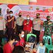 Kapolres Dairi Bersama Dandim 0206 Dairi, Meninjau Vaksinasi Massal Memperingati HUT Bhayangkara Ke 75